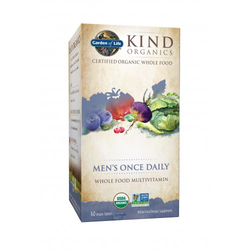 Supplements Garden Of Life Kind Organics Men 39 S Once Daily 30 Vegan Tablets